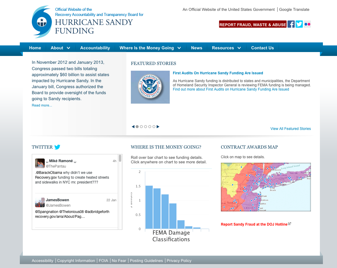 Site design for Hurricane Sandy